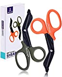 BONTIME Trauma Shears - Premium Quality EMT Shears, Stainless Steel Bandage Scissors for Medical, First Aid, ER, Nurse, Doctor, 7-Inch(2- Pack,