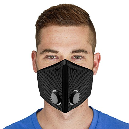 M2 Mesh Air Filtration Mask - Black - X-Large