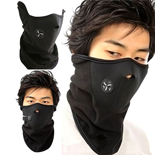 Half Face Mask for Cold Weather Winter. Half Balaclava n99 Mouth n95 Mask for Snowboarding, Ski, Motorcycle,Black