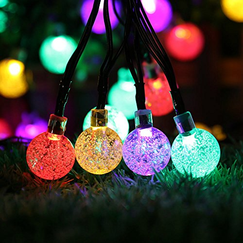icicle waterproof solar string christmas lights