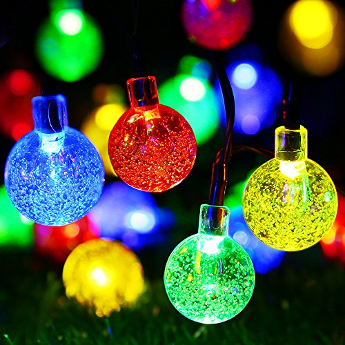 easydecor crystal balls solar string lights
