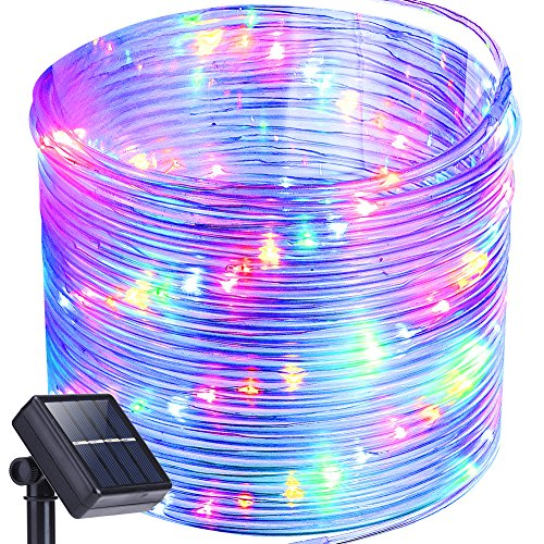 Best rated solar powered rope lights 2018 top 9 reviews oak leaf solar powered led rope lights 41ft aloadofball Gallery