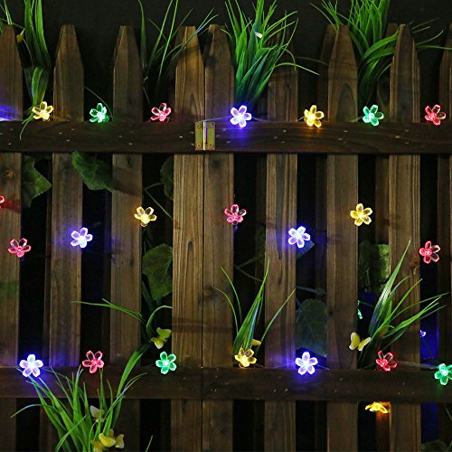 all star led solar powered flower bulbs string christmas lights